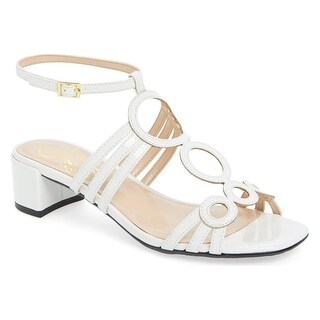 J. Renee NEW White Womens Shoes 7.5W Terri Patent Leather Sandal