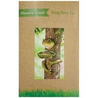 Meadow Creek ZAC844417 Resin Frog Tree Face Birdfeeder, Green