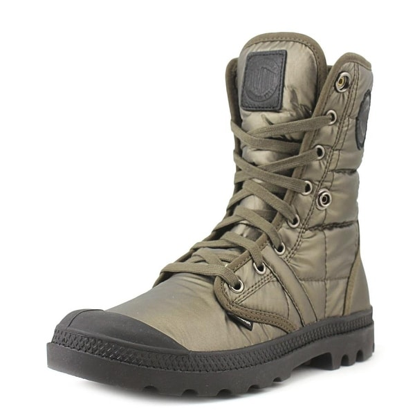 Shop Palladium Pallabrouse Baggy Exn Women Round Toe Synthetic Green ... 855d3dd313