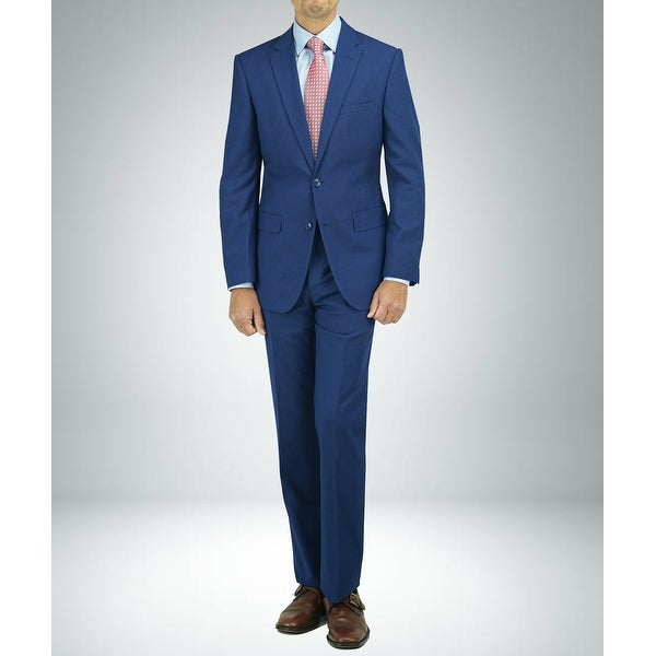 Carlo Studio Blue Samll Checked Modern-Fit Suit
