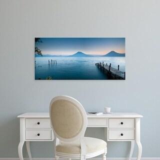 Easy Art Prints Panoramic Image 'Jetty, Lake Atitlan, Santa Cruz La Laguna, Western Highlands, Guatemala' Canvas Art