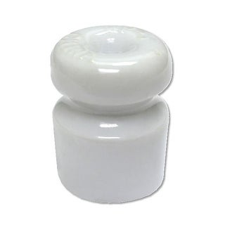 Zareba WP5 Single Groove Wood Post Ceramic Insulator, White