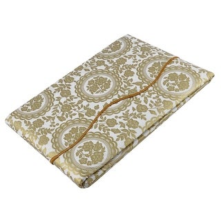 """Unique Bargains Home Turntable Flower Pattern Tablecloth Table Cloth Cover Gold Tone 71"""" x 54"""""""