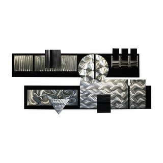 Statements2000 Black/Silver Modern Metal Wall Art Sculpture by Jon Allen - Winter Storm II