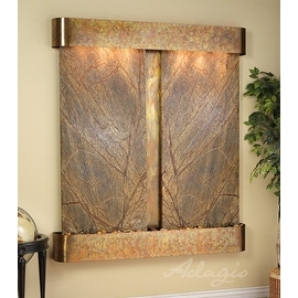 Adagio Cottonwood Falls Fountain w/ Rajah Featherstone in Blackened Copper Finis