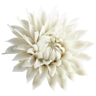 "Cyan Design 09112 Wall Flowers 1-1/2"" x 3-1/2"" Botanical Ceramic Wall Decor - off white glaze - N/A"
