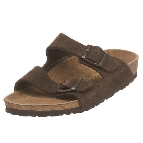 Birkenstock Unisex Arizona Mocha Suede Sandals - 45 M EU / 12-12.5 D(M) US