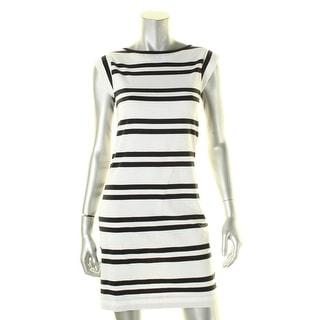 French Connection Womens Casual Dress Striped Cap Sleeves - 6
