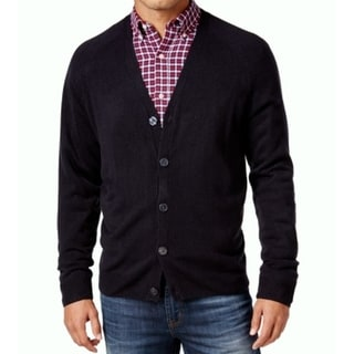 Weatherproof NEW Navy Blue Mens Size Large L Button Down Cardigan