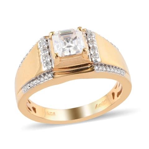 Shop LC 925 Silver Moissanite Wedding Ring Men Size 13 Ct 1.4