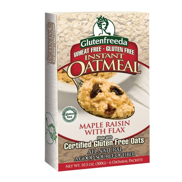 Gluten Freeda Instant Oatmeal - Maple Raisin - Case of 8 - 11.05 oz.