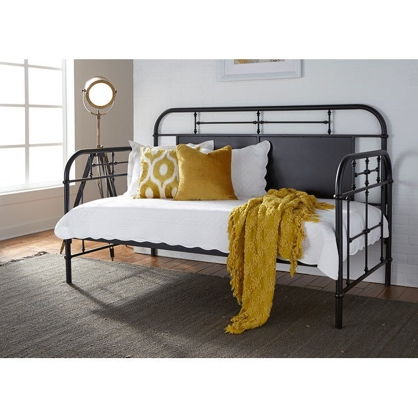 Carbon Loft Cauthen Vintage Series Black Twin Metal Day Bed. Opens flyout.