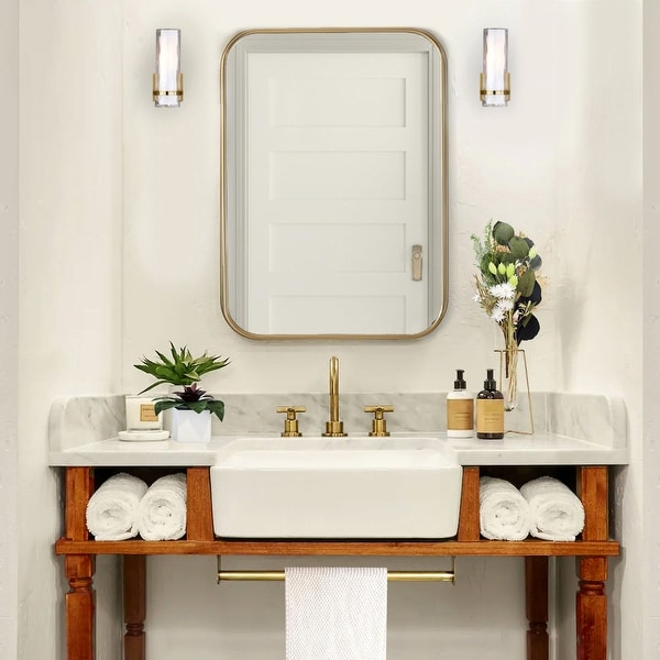 Highpoint Collection 19-inch White Rectangular Bathroom Vessel Sink without Overflow. Opens flyout.