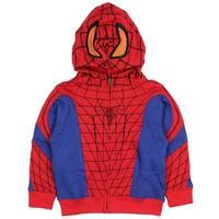 Marvel Spider-Man Little Boys Toddler Zip Up Character Hoodie