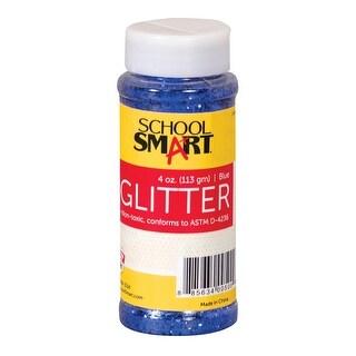 School Smart Glitter, 4 Ounce Jar, Blue