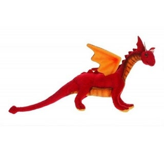 Pack of 4 Life-Like Handcrafted Extra Soft Plush Baby Red Dragon Stuffed Animal 11.75""