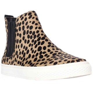Loeffler Randall Crosby Pull On High Top Fashion Sneakers - Cheetah