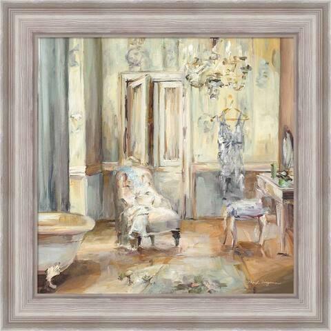 Marilyn Hageman 'Boudoir Bath II Gray' Framed Art