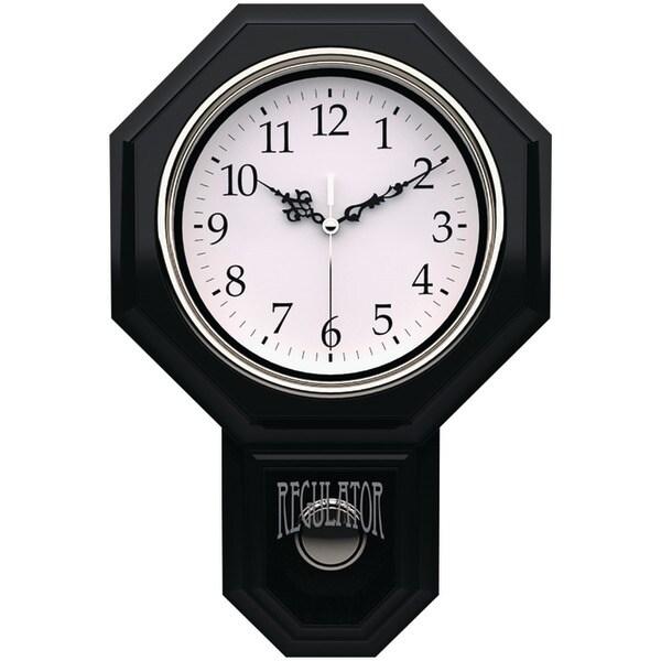 """Timekeeper 180Bwac 12"""" X 17"""" Essex Pendulum Wall Clock"""