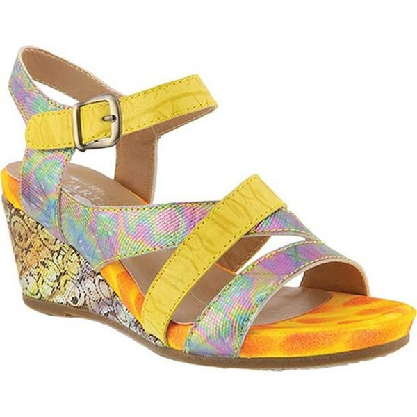 7c5842766fef5 Shop L Artiste by Spring Step Women s Leanna Strappy Sandal Yellow ...