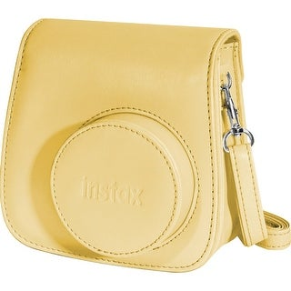 """Fuji 600015445 Fujifilm Groovy Carrying Case for Camera - Yellow - Polyurethane Leather - Shoulder Strap"""