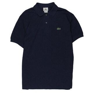 Lacoste Mens Polo Shirt Ribbed Collar Cotton