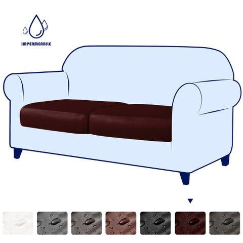 Subrtex Stretchy Water-Proof PU Individual Sofa Cushion Covers, Outdoor&Indoor