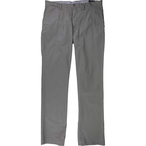 Ralph Lauren Mens Stretch Twill Casual Chino Pants, Grey, 42W x 30L