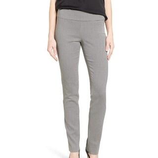 Nic + Zoe NEW Black Womens Size 8 Slim Leg Pixelated Ponte Dress Pants