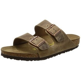 Birkenstock Arizona Sandal, Waxy Leather Tobacco, 13-13.5 US Men