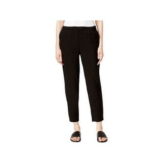 Eileen Fisher Womens Petites Ankle Pants Organic Cotton Tapered