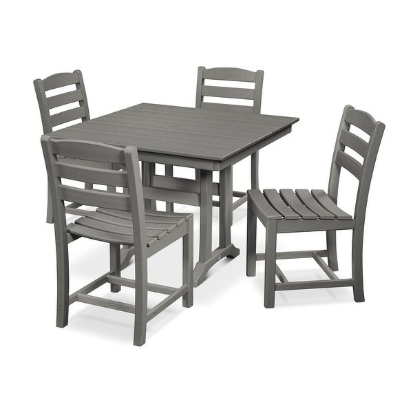 POLYWOOD La Casa Caf 5-Piece Farmhouse Side Chair Dining Set. Opens flyout.