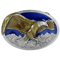 Flying Eagle Enameled Belt Buckle