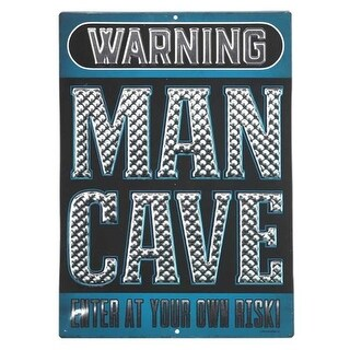 Open Road Brands 90164432-S Man Cave Embossed Tin Sign