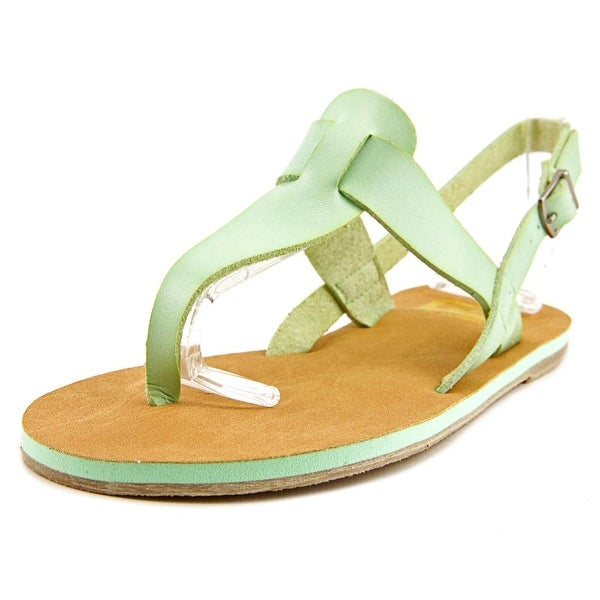 Cape Robbin Alma-FB-9 Women  Open-Toe Synthetic Green Slingback Heel