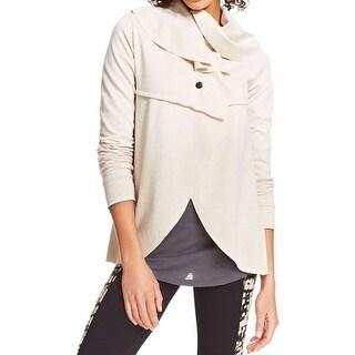 Kensie Womens Cardigan Top Heathered Snap Front