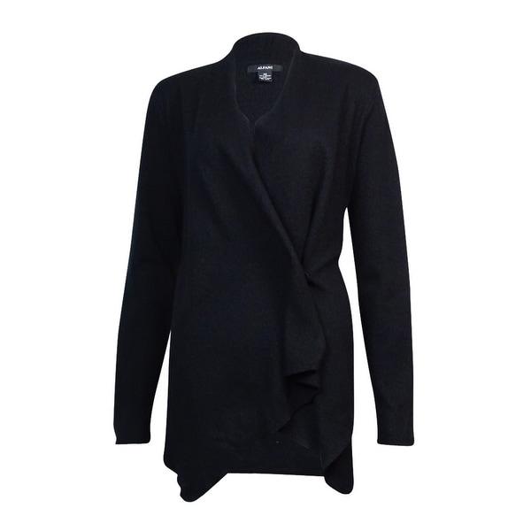Alfani Women's Wool Wrap Snap Button Jacket Sweater