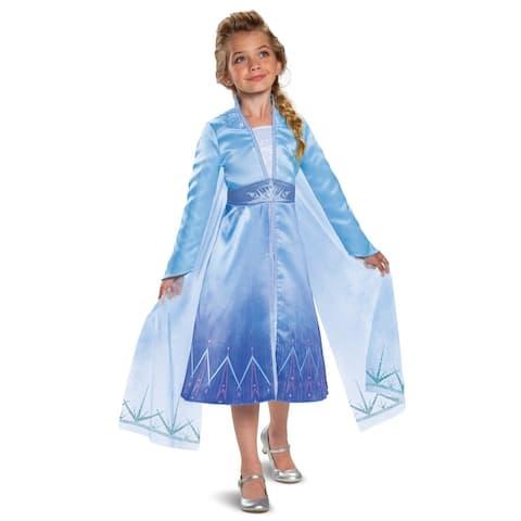 Disguise Frozen 2 Elsa Prestige Child Costume - Multi