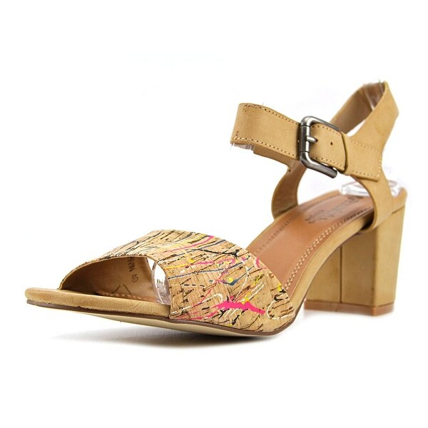 Patrizia By Spring Step Shivin Women Open Toe Synthetic Tan Sandals