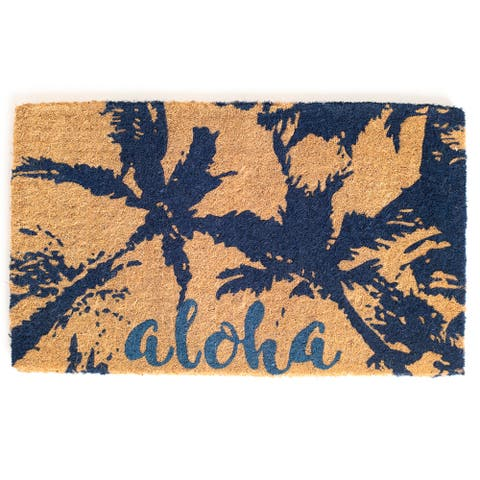 Aloha Doormat Extra Thick Handwoven, Durable