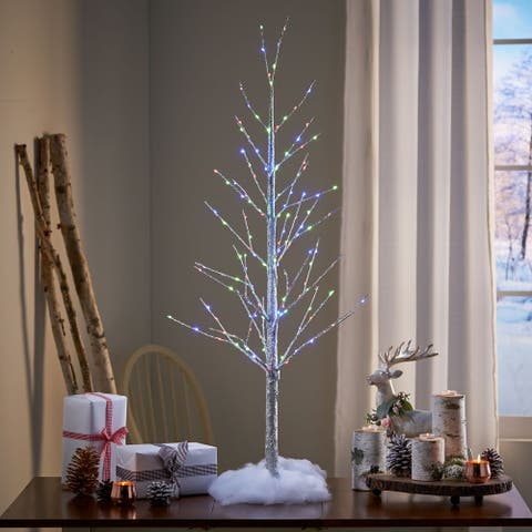 Cheshire 4-foot Pre-Lit 152 Multi-Color LED Artificial Christmas Twig Tree by Christopher Knight Home
