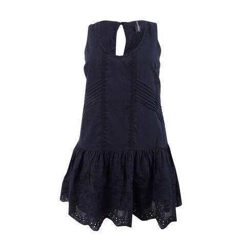 Minkpink Women's Gardenia Tiered Mini Dress Swim Cover-Up - Black