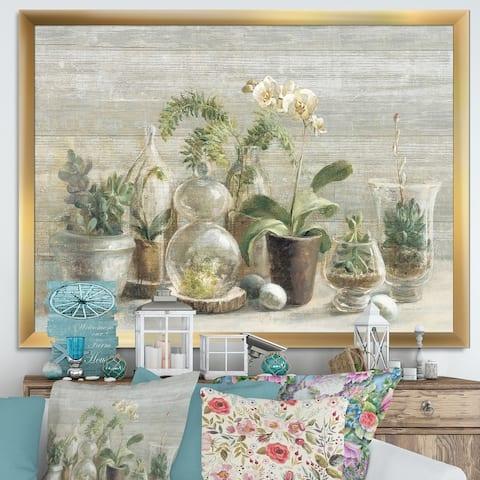 Designart 'Composition of Orchids' Traditional Framed Art Print