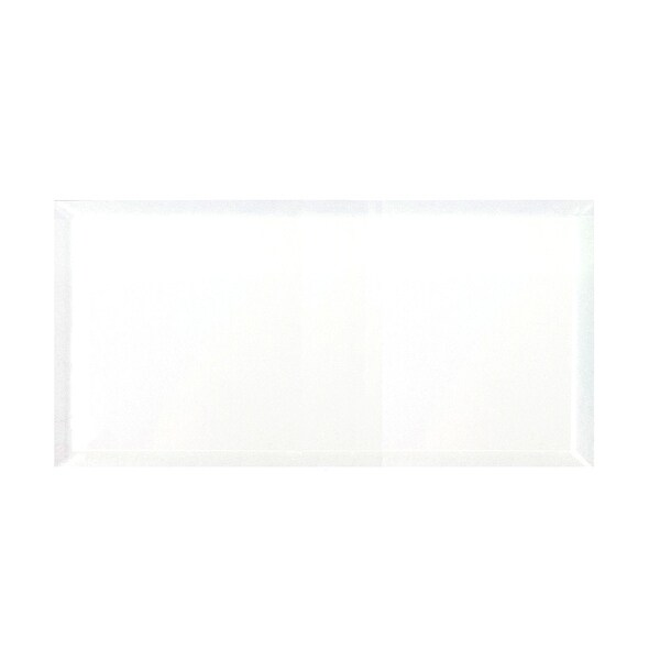 "Miseno MT-WHSFEG0816-IS Frosted Elegance - 8"" x 16"" Rectangle Wall Tile - Glossy Visual - White"