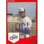 Victor Cole Memphis Chicks Royals Affiliate 1989 Pro Cards Autographed Card Minor League Card Th