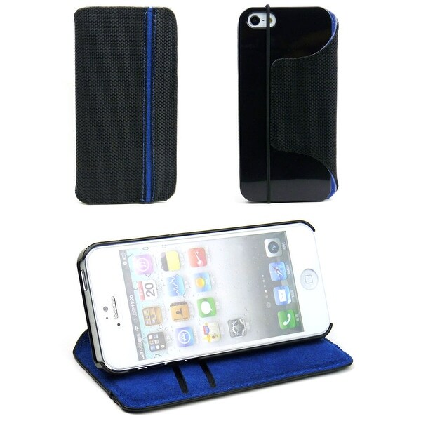 JAVOedge Nylon Slim Book Case (with Card insert) for the Apple iPhone 5S / 5
