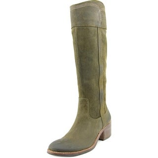 Donald J Pliner Willi Women Round Toe Leather Green Knee High Boot