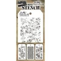 Set #25 - Tim Holtz Mini Layered Stencil Set 3/Pkg