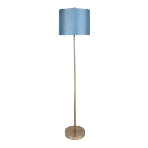 60-inch Slim-bodied Contemporary Metal Floor Lamp with Fancy Shade