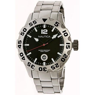 Nautica Men's Metal N17549G Silver Stainless-Steel Quartz Fashion Watch